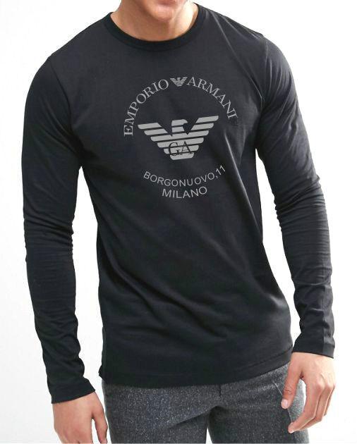 c41cb4be Emporio ARMANI Long Sleeve T-shirt Borgonuovo 11 MILANO Size M-l-xl ...