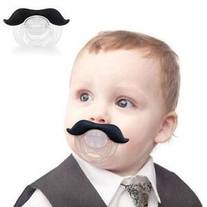 Drole-Moustache-Bebe-Garcon-Fille-Nourrisson-Sucette-Tetons-OrthodontiquesLRZ