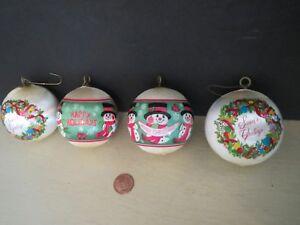 4-Vintage-Christmas-Satin-Ball-Tree-Ornaments