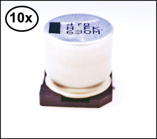 10x SMD Kondensator 470µF 63V 105°C Alum Elektrolyt Kondensator 16x17mm #720535