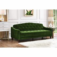 Green Convertible 3 In 1 Sofa Bed Futon Lounger Sleeper Loveseat Couch Tufted