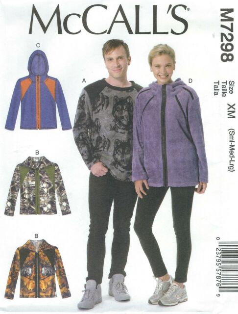 McCalls Misses Mens Top and Jackets Sewing Pattern 7298 Size Small ...