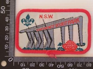 VINTAGE-CATARACT-SCOUT-PARK-EMBROIDERED-SOUVENIR-PATCH-WOVEN-CLOTH-SEW-ON-BADGE