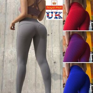 8f9a54dac1a44 Image is loading UK-Womens-Yoga-Gym-Anti-Cellulite-Compression-Leggings-
