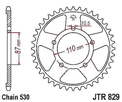 530 Chain Cnvrsn Suzuki GSXR1100 G,H,J 1986-1988 Rear Sprocket JTR829-46 Tooth