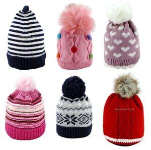 Cappello-invernale-Neonato-cappellino-Bambino-Bambina-0-12mesi-1-2-anni-PON-PON
