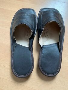 Pantofole-Uomo-Pantofole-Vera-pelle-Estate-Tutte-le-Taglie