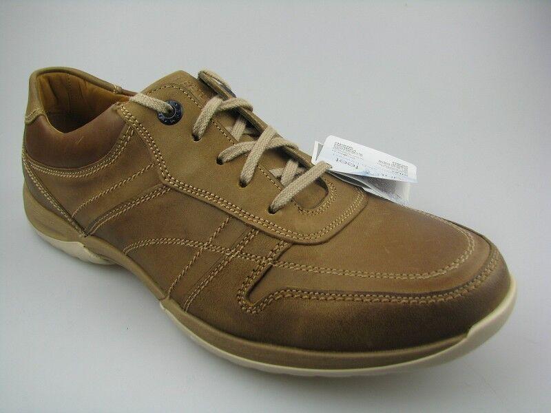 Los zapatos más populares para hombres y mujeres Fretz Men 5412.1537-56 calcetines cortos de cuero en marrón con suela extraíble resistente