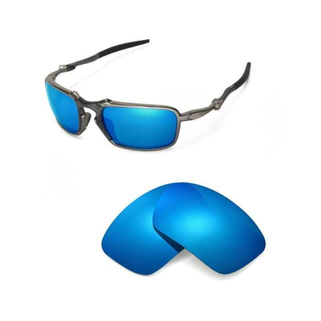 6ff4ad876cd Walleva Polarized Ice Blue Replacement Lenses for Oakley Badman Sunglasses