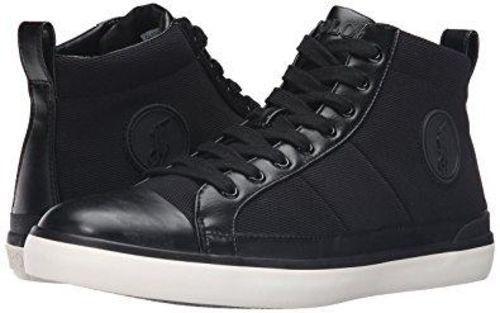 Polo Ralph Lauren Clarke SK VLC Black Black Black Oval Mesh Polo Casual Sneaker 816615296001 7af898