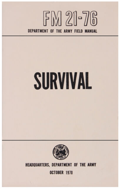 us army survival field manual book fm 21 76 rothco 1402 ebay rh ebay com field manual us army download field manual us army
