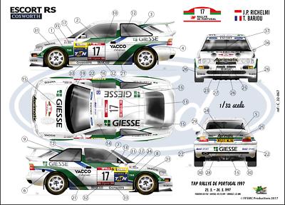 Decals 1//32 VW Polo R WRC  Skoda Rallye Liezen 2017 winner FFSMC Productions