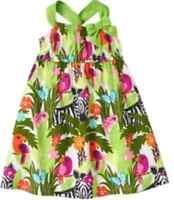 Gymboree Wild For Zebra Parrot Jungle Print Dress 3-6 Months