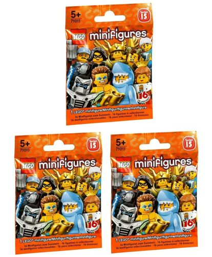 Lego 3x Minifigure 71011 Series 15 party bag toy New and Sealed RANDOM BLIND
