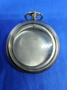 Boitier-montre-de-poche-Taschenuhrgehause-pocket-watch-case-acier-Train-Turquie