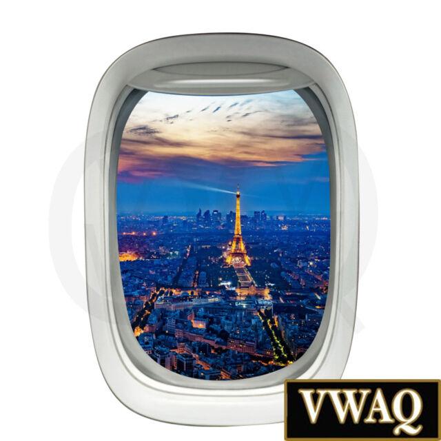 Realistic Airplane Window Wall Decal 3D Aviation Decor Beach Scene Art VWAQ-PW32