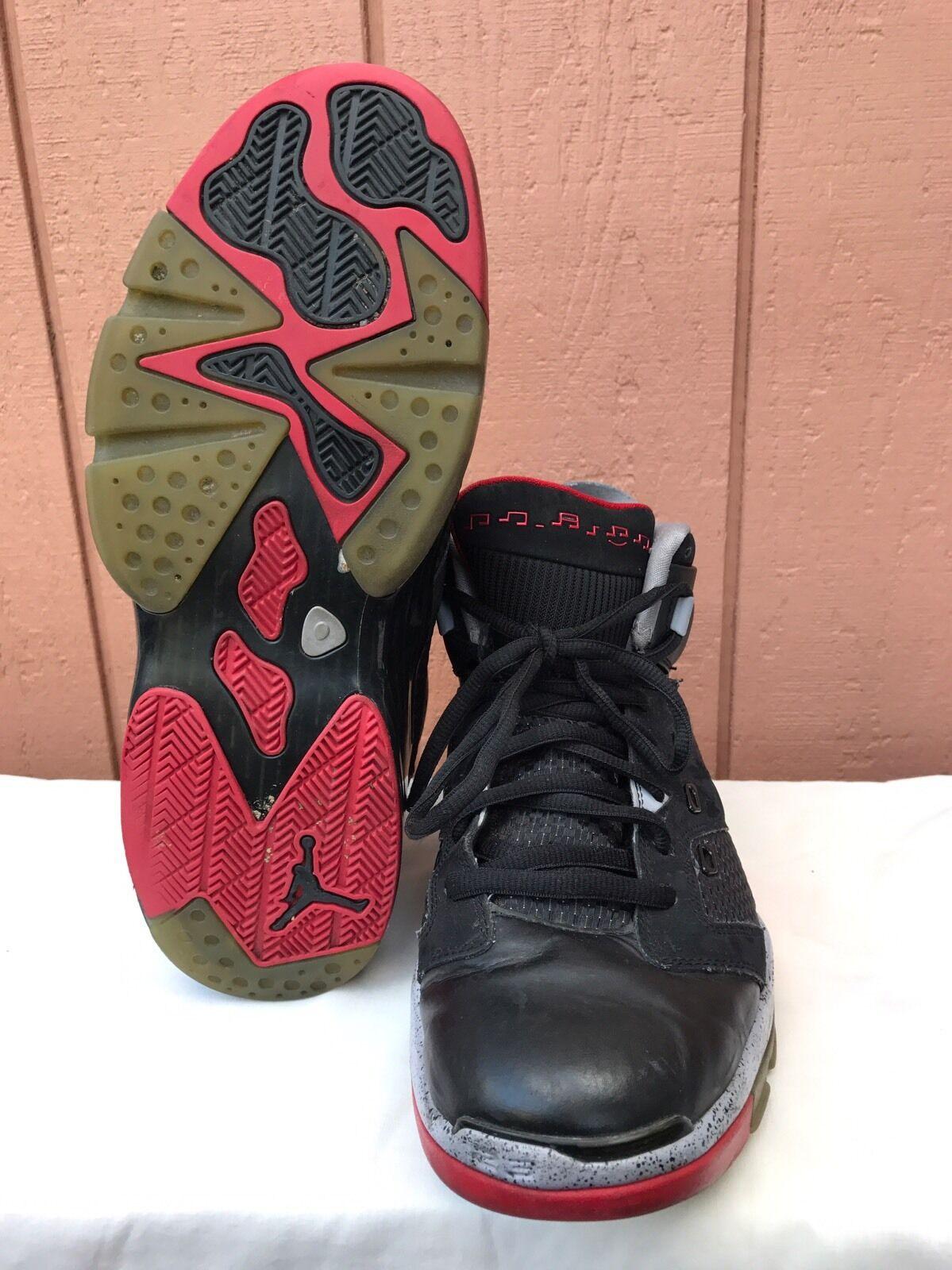 da6abfabd29 ... EUC Air Jordan basketball Zapatos US 12 12 12 428817-003 Michael fuego  negro rojo