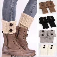 Women Crochet Boot Cuffs Ladies Knitted Cowboy Toppers Boot Socks Leg Warmers UK