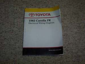 1985 Toyota Corolla Fr Electrical Wiring Diagram Manual Dx Gts Le Sr5 1 6l 4cyl Ebay