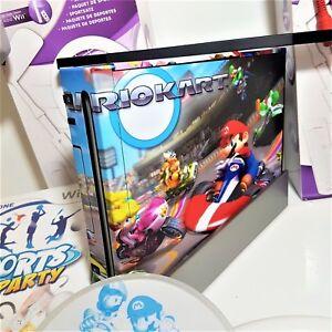 Black nintendo wii console 2 player bundle mario kart - Wii console mario kart bundle ...
