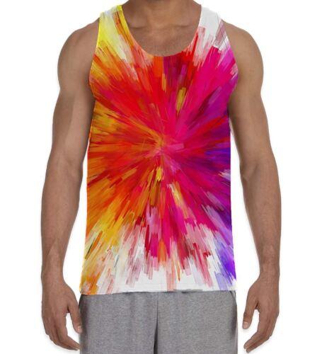 Résumé Arc-en-couleur Explosion Men/'s All Over Print Vest Tank Top