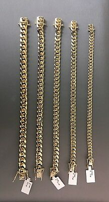 "Massiccio 14k Oro 6.5mm Miami Cubana 8 "" Bracciale Ejmc7mm Fine Jewelry"