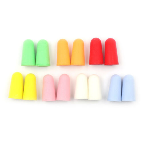 20pcs PU Foam Ear Plugs Anti Noise Snore Earplugs Comfortable For Study Sleep SU