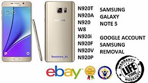 Details about Galaxy Note 5 N920 Removal Google Lock, Samsung Account  Bypass, FRP Lock Bypass
