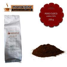 Caffè Arabica macinato fresco per espresso Perù Cuzco HB 250 gr