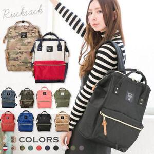 Image is loading Fashion-Japan-Anello-Women-Backpack-Rucksack-Canvas-School- a97ef4795e13b