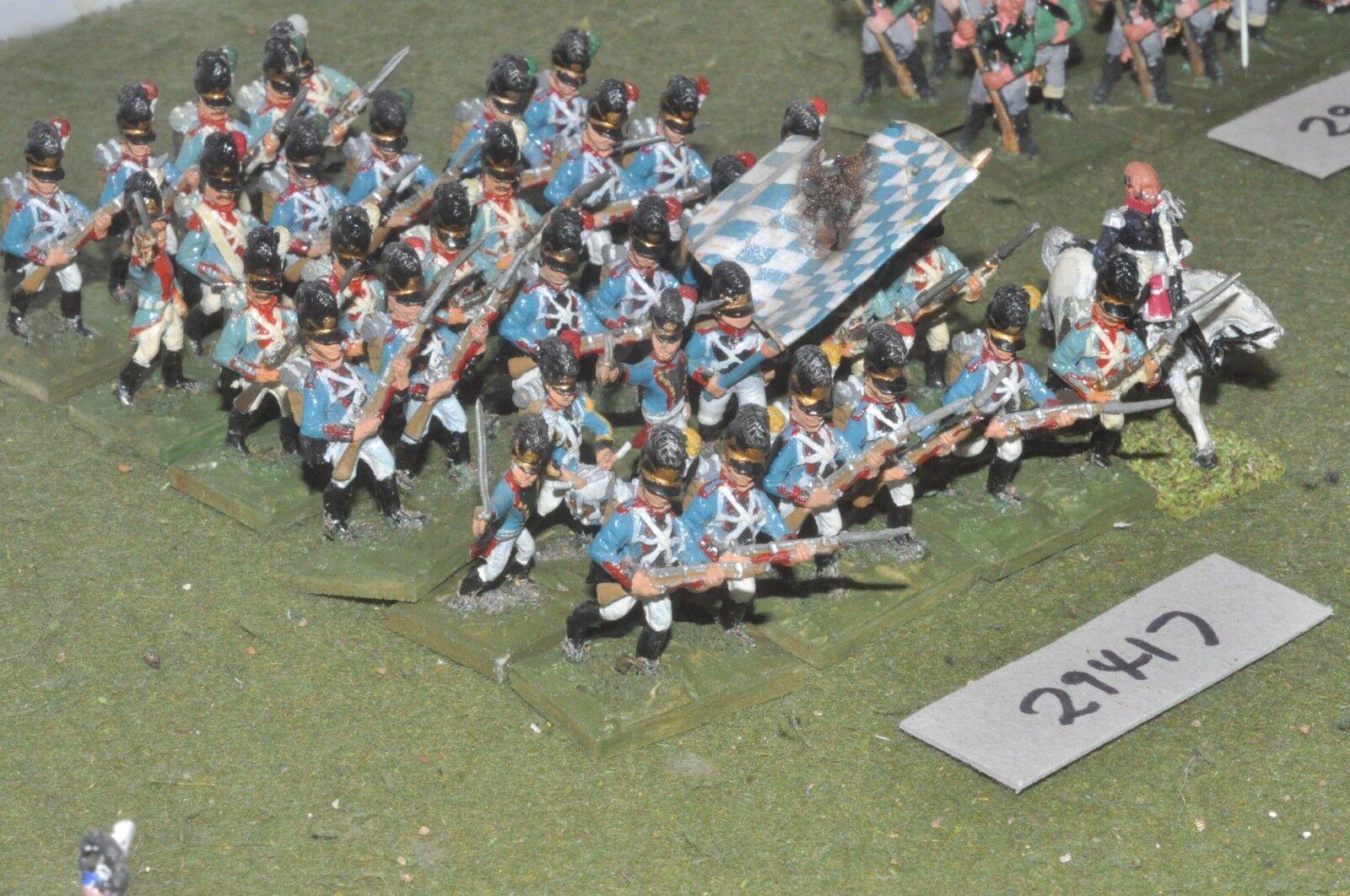 25mm napoleonic   bavarian - line 36 figures - inf (29417)