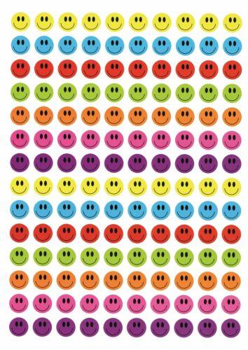 560 pcs Autocollants Récompense Smiley Trophée Autocollant /'Visages Coloré/'