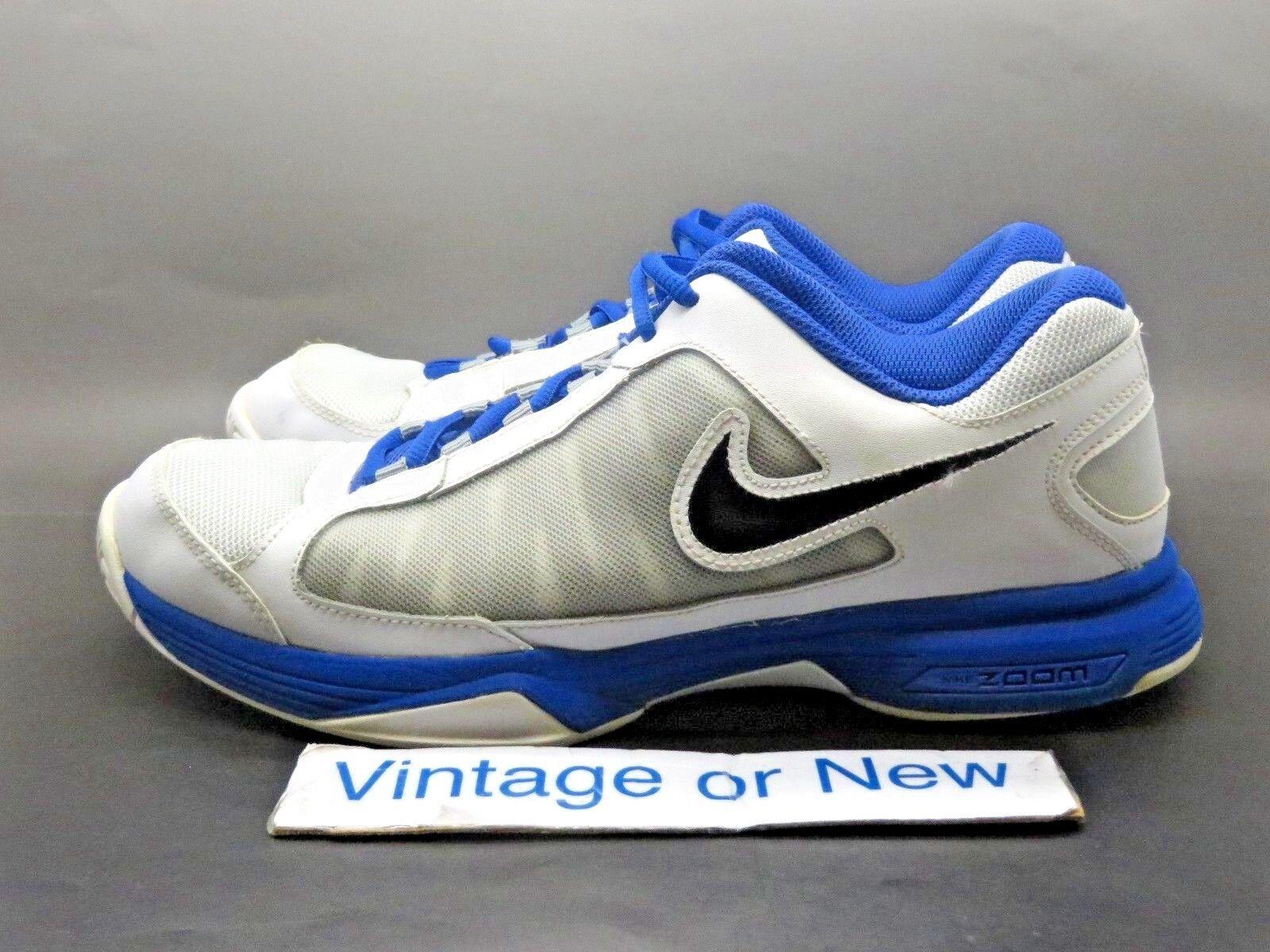 1b1ec02fb601 ... Women s Nike Zoom Courtlite Courtlite Courtlite 3 Platinum White Black  Blue Tennis 487996-001 sz ...