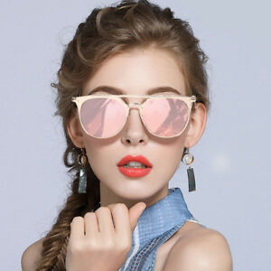 a0cd783c5 Image is loading UK-NEW-Rose-Gold-Mirrored-Reflective-Aviator-Sunglasses-