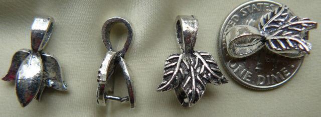 Silver pinch bails U.S.Bead warehouse 999 Hypo-allergenic silver over Copper