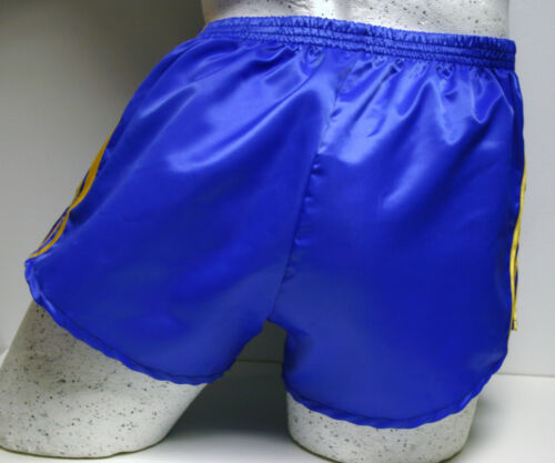 Gold Retro Nylon Satin Fußball Shorts S zu 4XL Royal