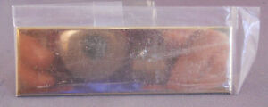 Gold Colored Name Plate- 1x3 NEW OLD STOCK