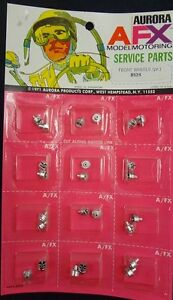 1971 AURORA AFX FRONT WHEELS MINT SEALED ON PRISTINE CARD #8524-35 OLD STORE STO
