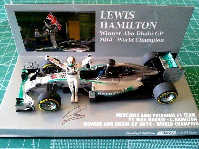 Lewis HAMILTON - MINICHAMPS 410140644 - MERCEDES AMG PETRONAS F1 W05 / ABU DHABI