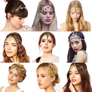 Fashion-Women-Boho-Head-Chain-Jewelry-Metal-Rhinestone-Headband-Piece-Hair-Band