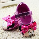 Cute Baby Girls Mary Jane Minnie Mouse Pink Metallic Disney Pre Walkers Shoe