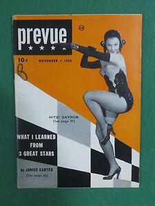 Vintage-PREVUE-Magazine-November-1952-MITZI-GAYNOR-Cover-Photo