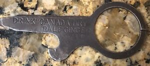 """Details about 1920's Canada Dry Ginger Ale Ring Opener 2 75"""" The W&H  Newark, NJ"""