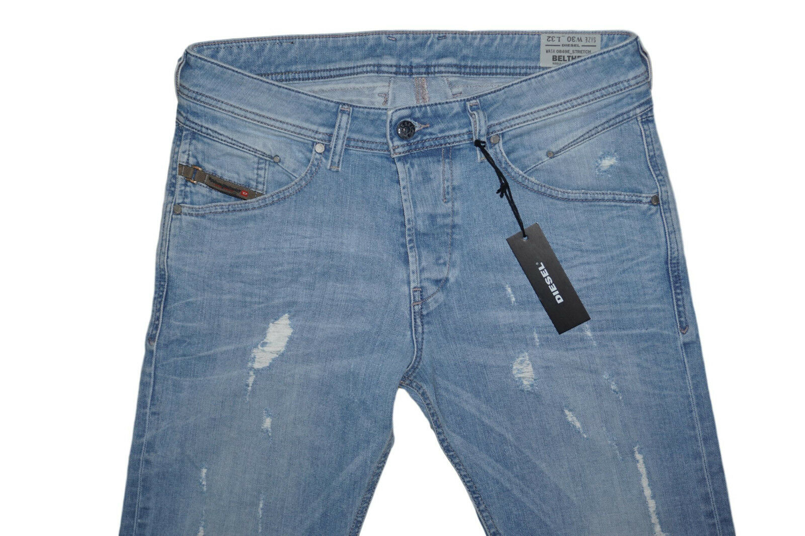 DIESEL BELTHER 0849E SLIM TAPERED JEANS W29 L32 100% AUTHENTIC