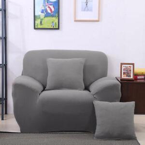Gris-Chaise-avec-Bras-Place-Extensible-Canape-Salon-Protege-Housse-Revetement