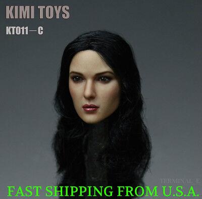 KIMI KT011 B 1//6 Female Head Sculpt Long Hair For PHICEN Hot Toys Figure ❶USA❶