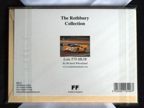 Lola T70 Mk3B Blank Greetings Card with envelope