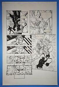 Rai-31-page-19-Classic-Valiant-Comics-Original-Art-1995-Bad-Penny-Part-1-vs-Ax
