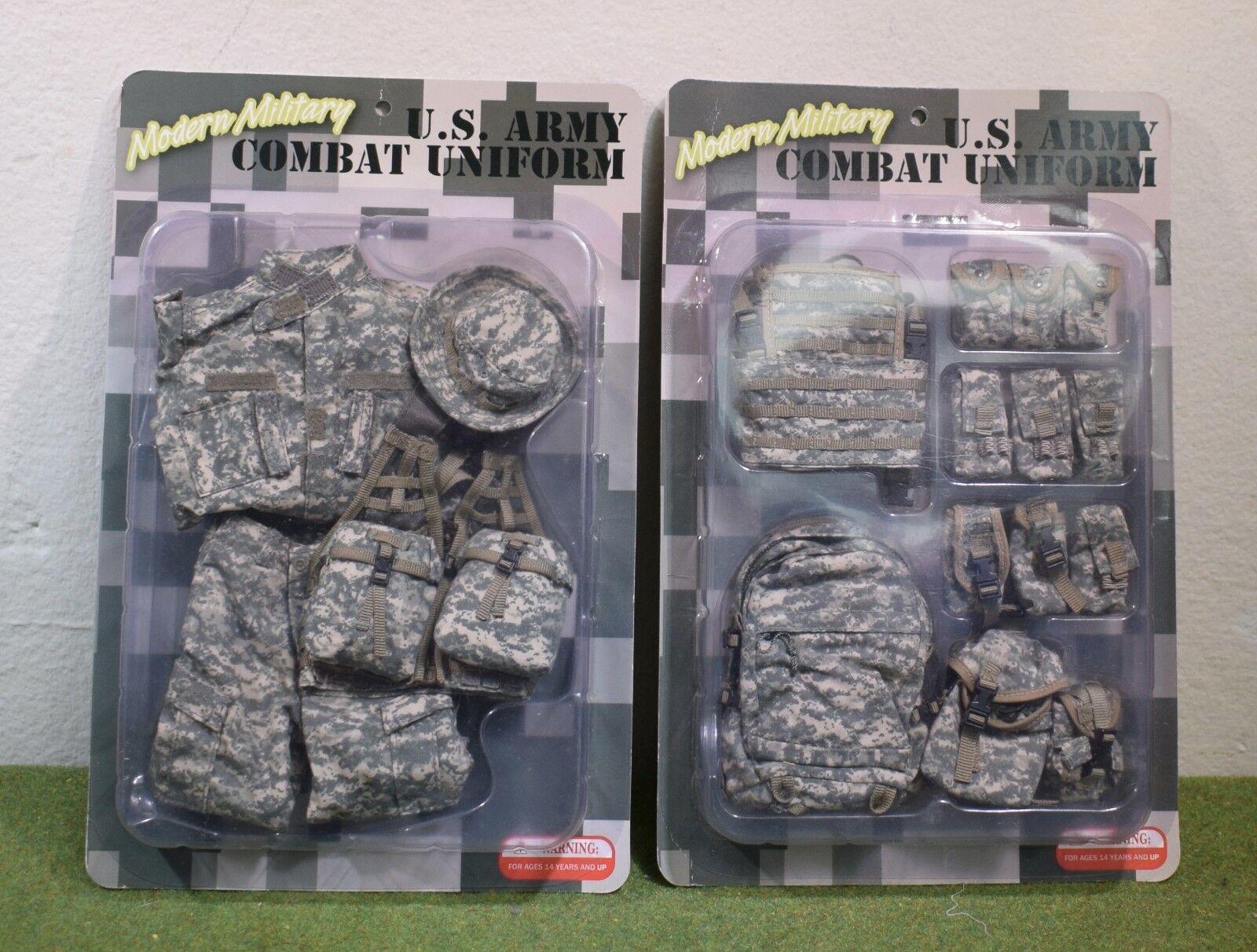DRAGON DREAMS 1 6 MODERN US CARDED ARMY COMBAT UNIFORM E60051 & E60052