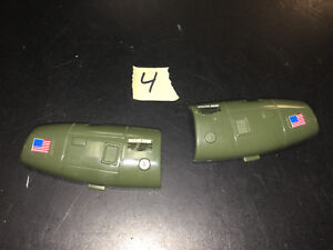 Vintage-GI-Joe-Cobra-Vehicle-Parts-1983-Dragonfly-Helicopter-LOT-4-engine-covers
